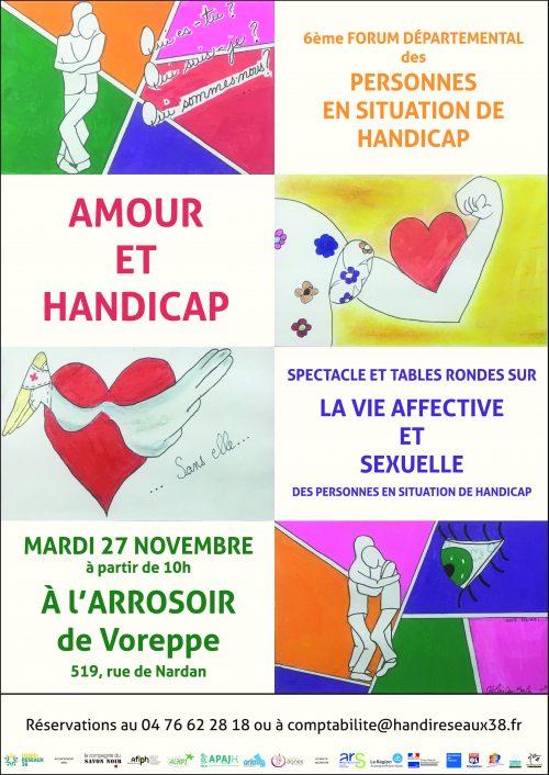 Affiche du 6ème Forum départemental des personnes en situation de handicap de l'Isère, HandiRéseaux38