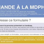 Nouveau cerfa demande MDPH