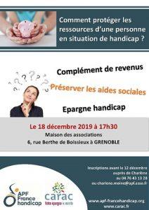Affiche APF Carac Epargne handicap